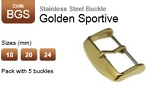 Stainless Steel Buckle - Golden Sportive (pack with 5)