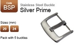 Stainless Steel Buckle - Silver Classic (pack with 5)