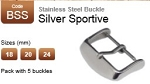 Stainless Steel Buckle - Silver Sportive (pack with 5)