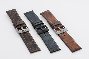 1003 Top Grain Leather Watchband 1003 (Wide Size 26mm)