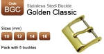 Stainless Steel Buckle - Golden Classic (pack with 5)