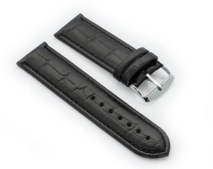 74 (Croco Embossed  Top Grain Leather Watchband (Wide Sizes 26mm and 28 mm)