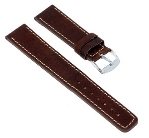 88C Extra-Long Top Grain Leather Watchband