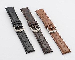 94 Top Grain Croco Embossed Leather Watchband (Classic)