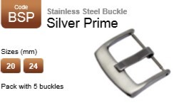 Stainless Steel Buckle - Silver Prime (pack with 5)